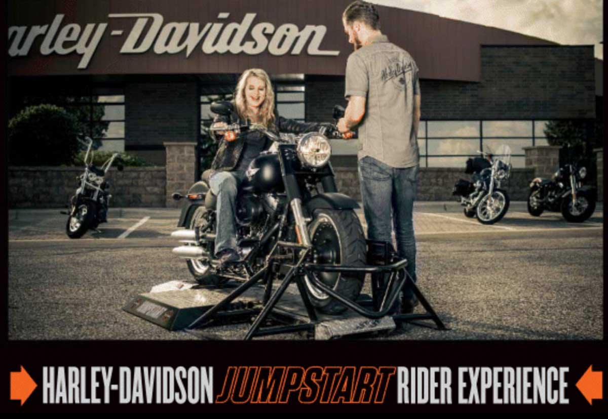 Ride a Harley-Davidson without a license